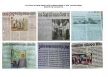 Activities highlighted by printing media